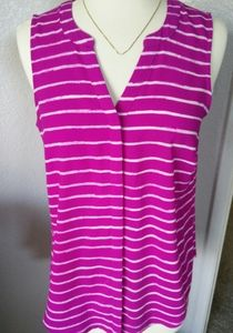 Apt 9 Small pink stripee top blouse
